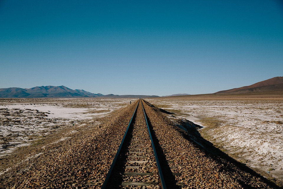 Desert CSP in buried transmission along railroad corridor