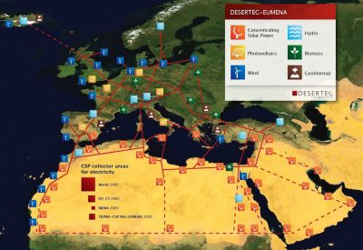 HVDC renewable power from North Africa to Europe - Desertec