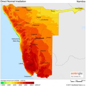 Namibia CSP potential