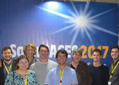 Lina Hockaday with colleagues at Stellenbosch University South Africa at SolarPACES