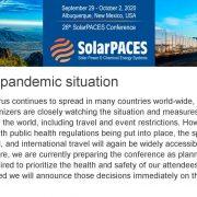 COVID Pandemic Announcement: SolarPACES Conference