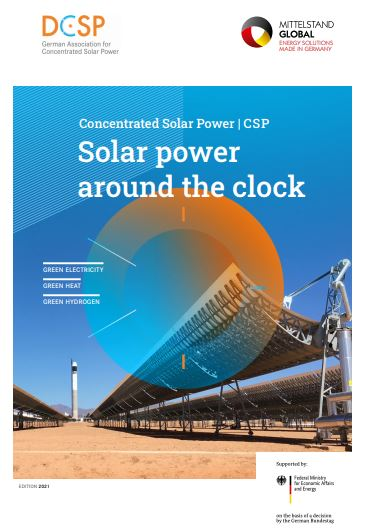 Since 2013, the German Association for Concentrated Solar Power has been committed to the generation and use of electricity, heat and fuels from conce