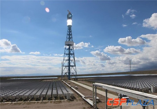 China's First Commercial CSP Project at 50 MW Begins Test Run