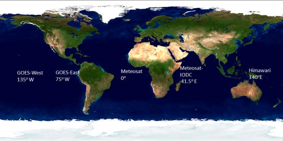 Location of Geosatélites